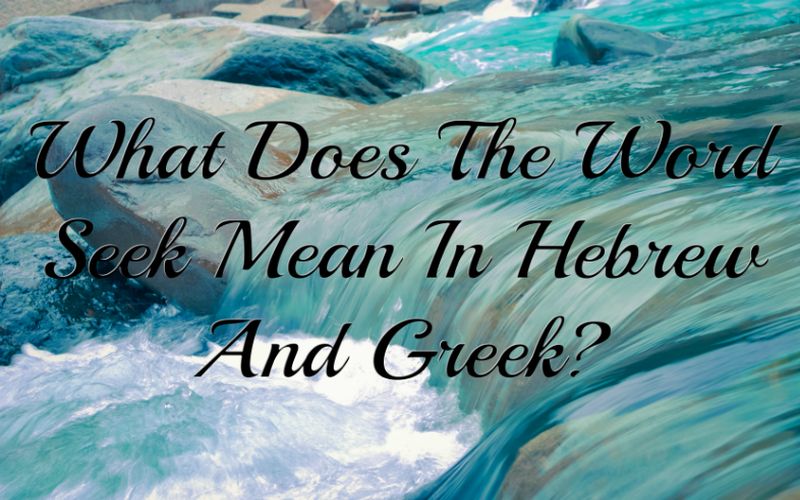 What does the word seek mean in hebrew and greek featured image