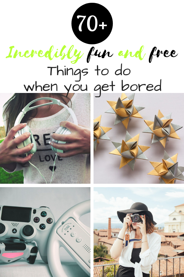 Free things to do when you're bored pinterest pin