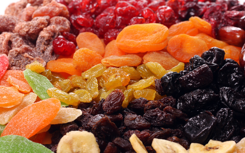 iron rich fruits include dried fruits